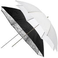 Набор фотозонтов Elinchrom Umbrella Set (белый, серебристый 83 см) (26062)